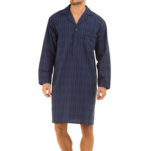 Haigman Mens Cotton Poplin Nightshirt