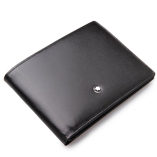Montblanc Leather Mst Wallet 6Cc Black