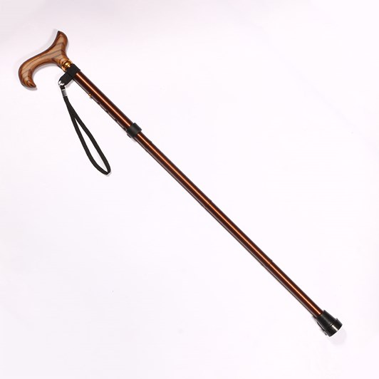 Charles Buyers Adjustable Folding Walking Stick W/Strap