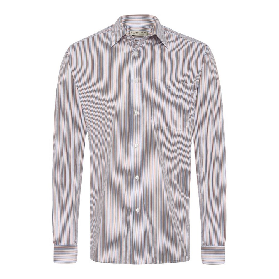 R.M. Williams Collins Shirt - pnqv bluewhitered