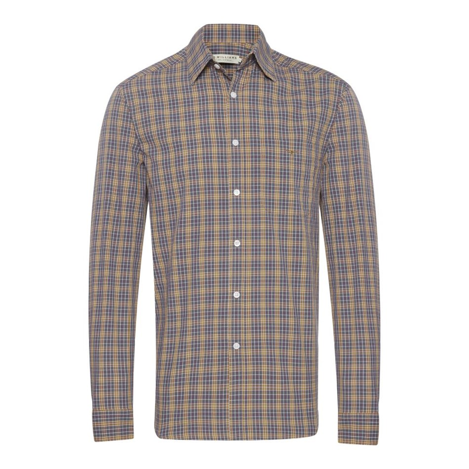 R.M. Williams Collins Shirt - psnb navy brown