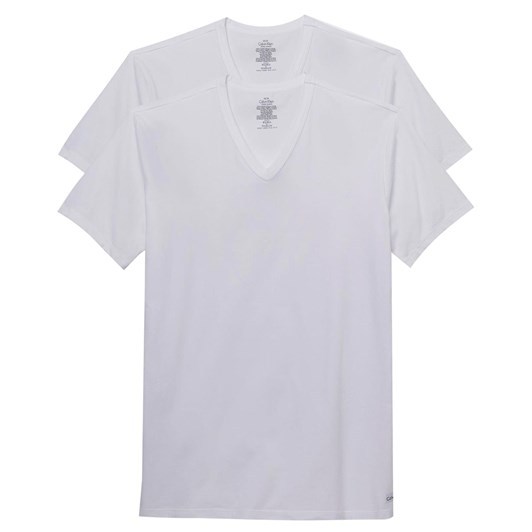 Calvin Klein Cotton Stretch V Neck T Shirt 2PK