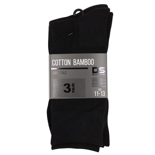 DS Mens Cotton Bamboo 3PK Sock