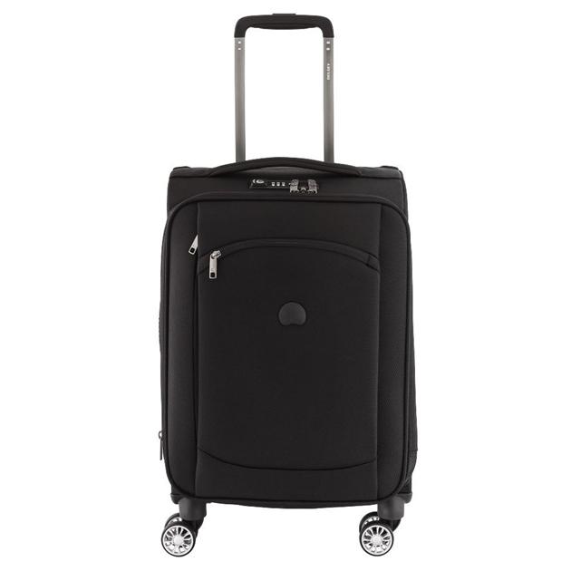 Delsey Montmartre Air 4 Double Wheel Cabin Trolley Case 55cm - black