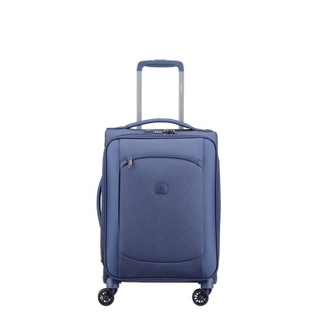 Delsey Montmartre Air 4 Double Wheel Cabin Trolley Case 55cm - blue