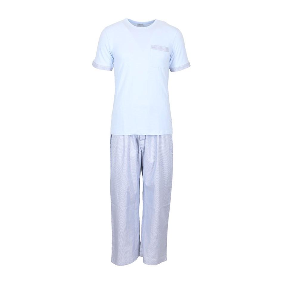 Baksana Miami Long Pant/Tee Set - blue
