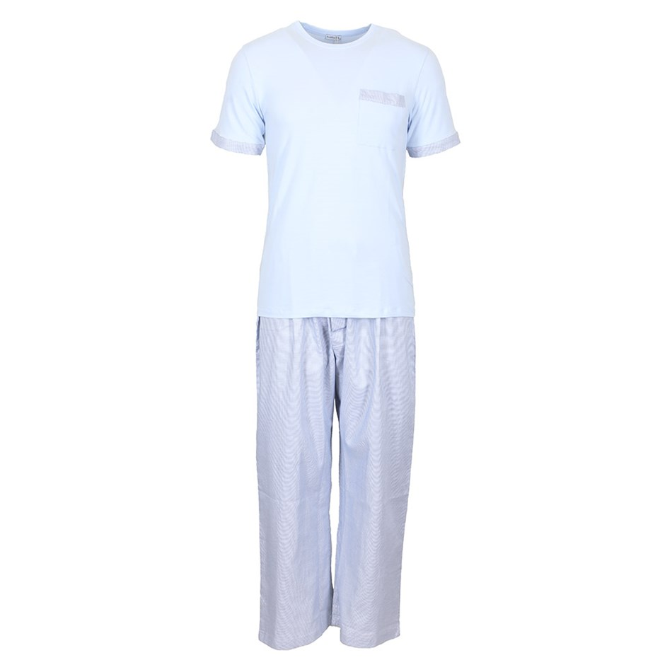 Baksana Monaco Long Pant/Tee Pj Set - blue