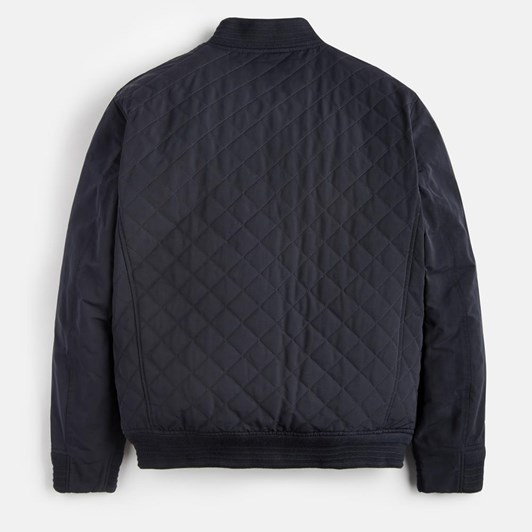 Joules Quilted Bomber Jacket With Textured Ribs
