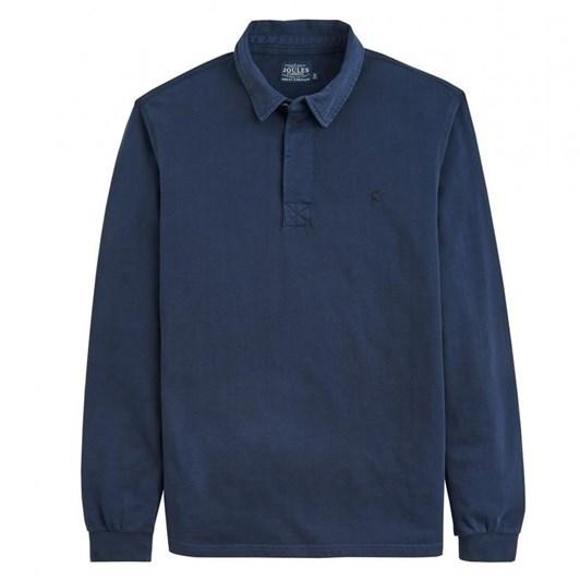 Joules Long Sleeve Slub Polo Shirt
