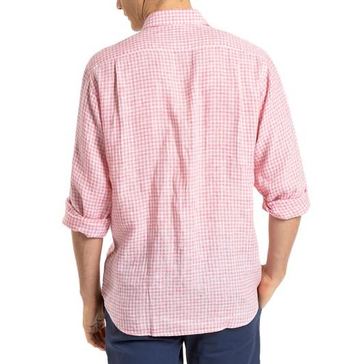 Blazer Gregory L/S Linen Check Shirt
