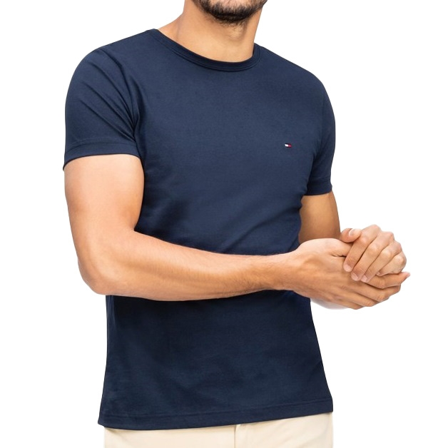 Tommy Hilfiger Essential Cotton Tee - 403 navy