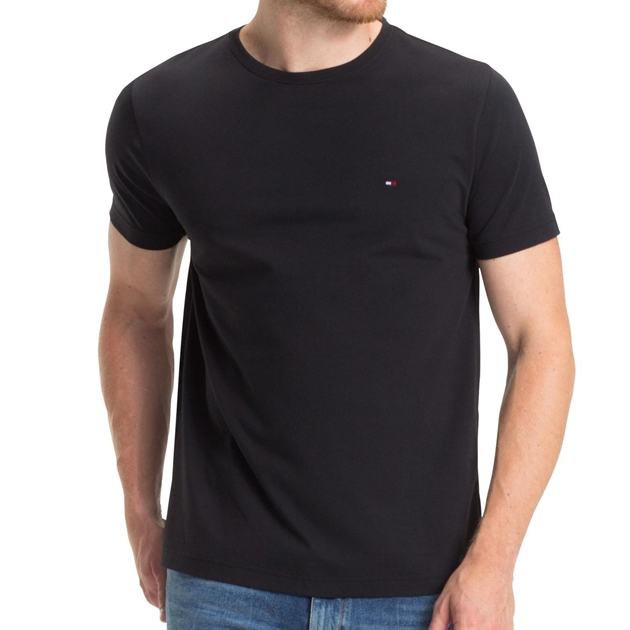 Tommy Hilfiger Essential Cotton Tee - t083 flag black