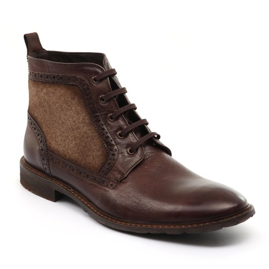 Lloyd Gusset Boot Plain Vamp, Rubber Sole