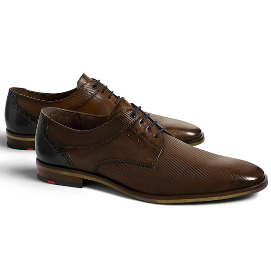 Lloyd Plain Vamp Textured Heel Shoe