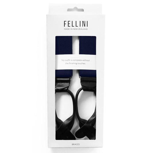 Fellini Plain 35mm Leather End Braces