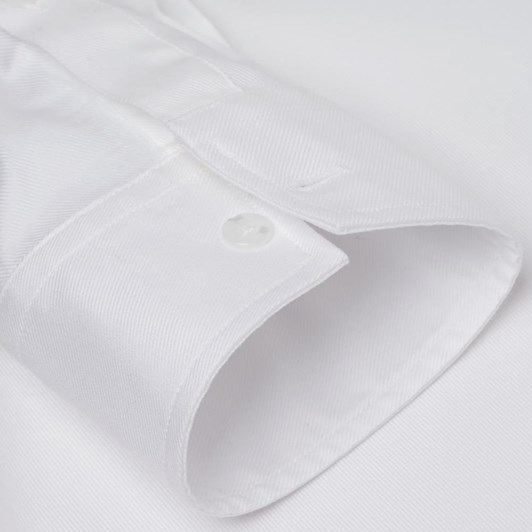 TM Lewin Plain Luxury Twill White Shirt
