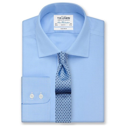 TM Lewin Plain Light Blue Shirt
