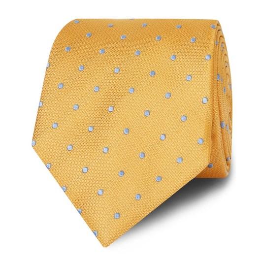 T.M.Lewin Tie Textured Satin Spot Yellow Sky