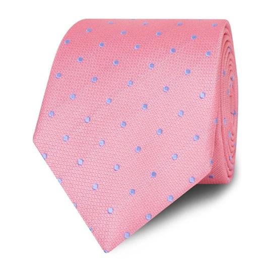 T.M.Lewin Tie Textured Spot Pink Sky