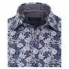 Casamoda Kent LS Print Shirt - 100 blue