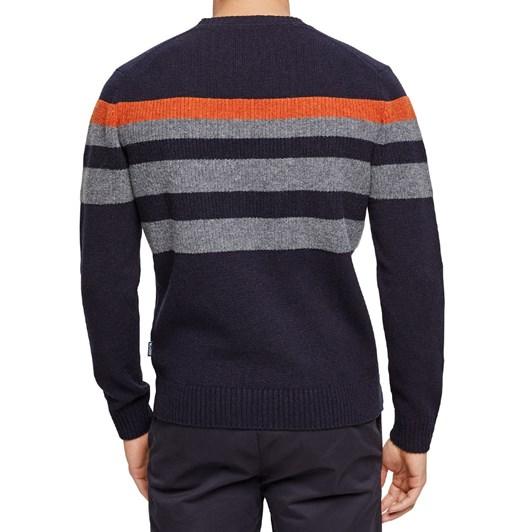 Blazer Sean Lambswool Chest Stripe Crew Knit