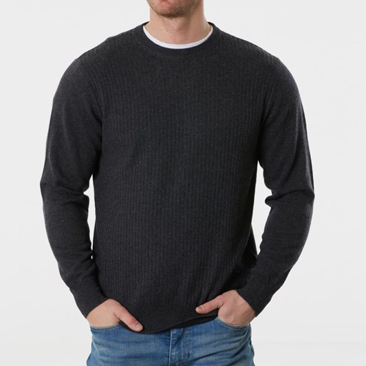 Bridge And Lord Crew Neck Pullover With Vertical Ribs