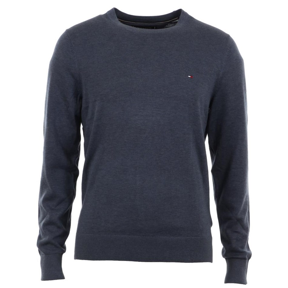 Tommy Hilfiger Cotton Silk Crew Neck - vintage indigo h