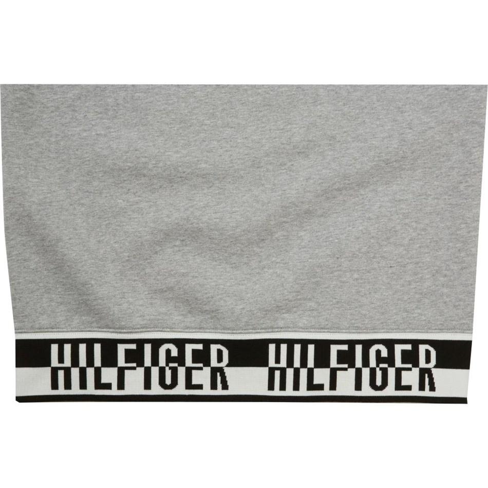 Tommy Hilfiger Logo Rib Hoody - cloud htr