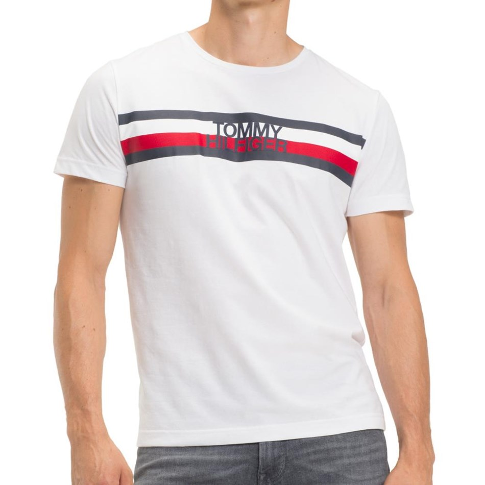 Tommy Hilfiger Tommy Logo Tee - bright white