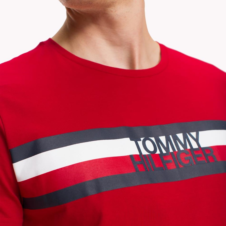 Tommy Hilfiger Tommy Logo Tee - haute red