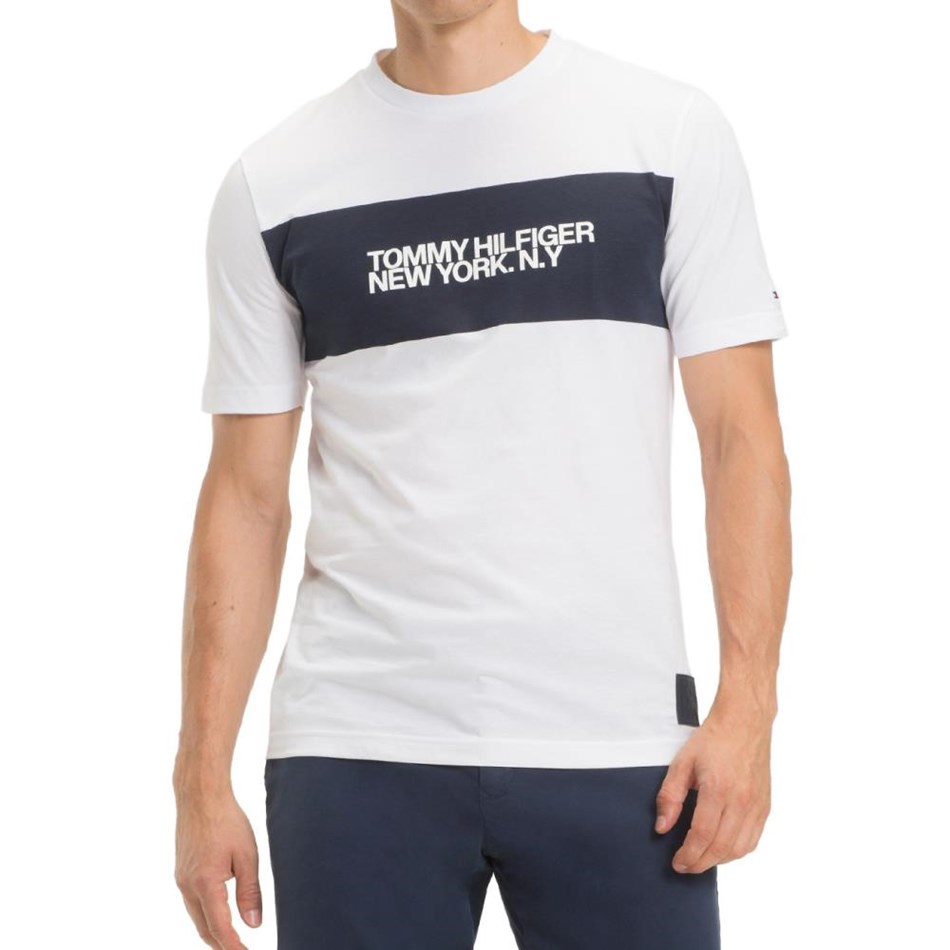 Tommy Hilfiger Big Scale Relaxed Fit Tee - bright white