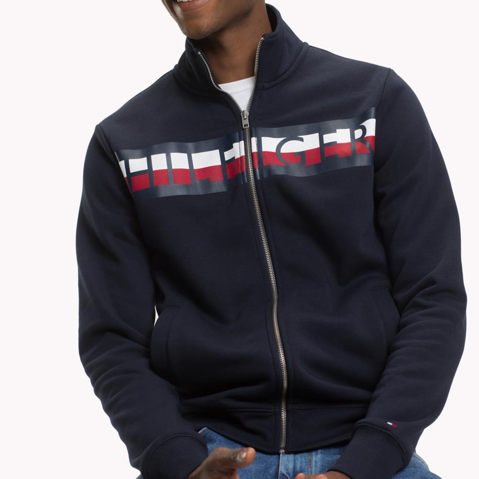 Tommy Hilfiger Zip Through - sky captain