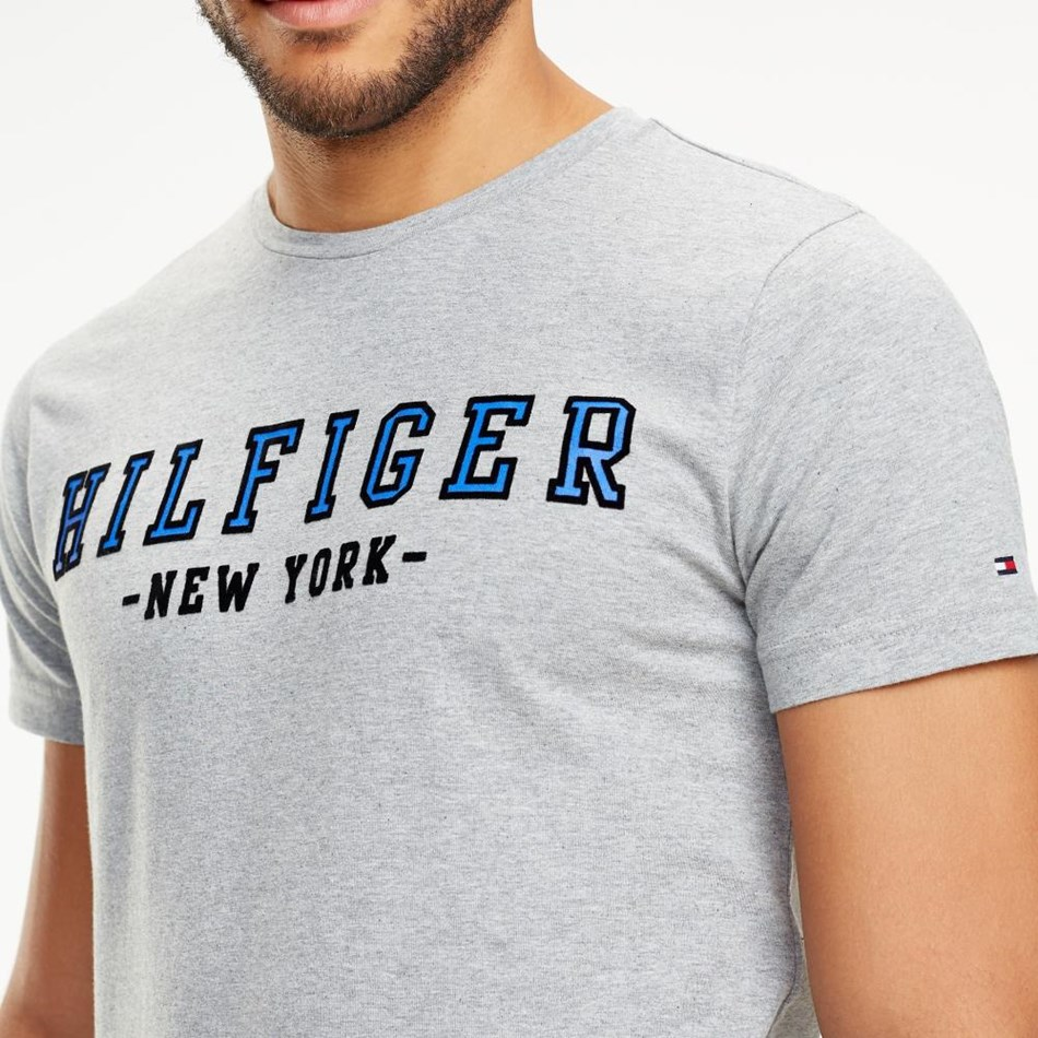 Tommy Hilfiger Wcc Hilfiger Outline Tee - cloud htr