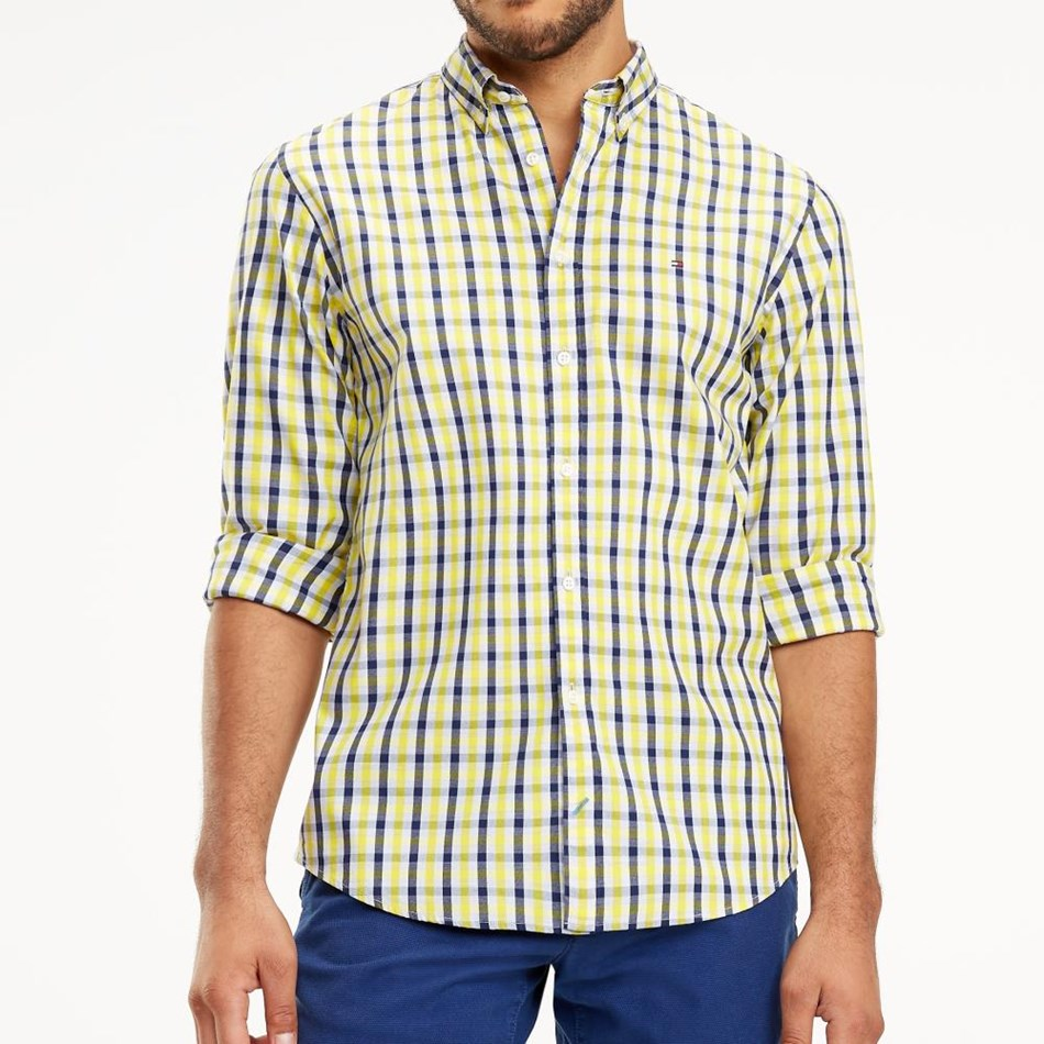 Tommy Hilfiger Wcc Heather Gingham Shirt - empire yellow