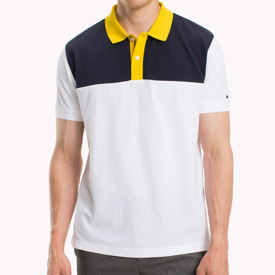 Tommy Hilfiger Wcc Colorblock Regular Polo - bright white
