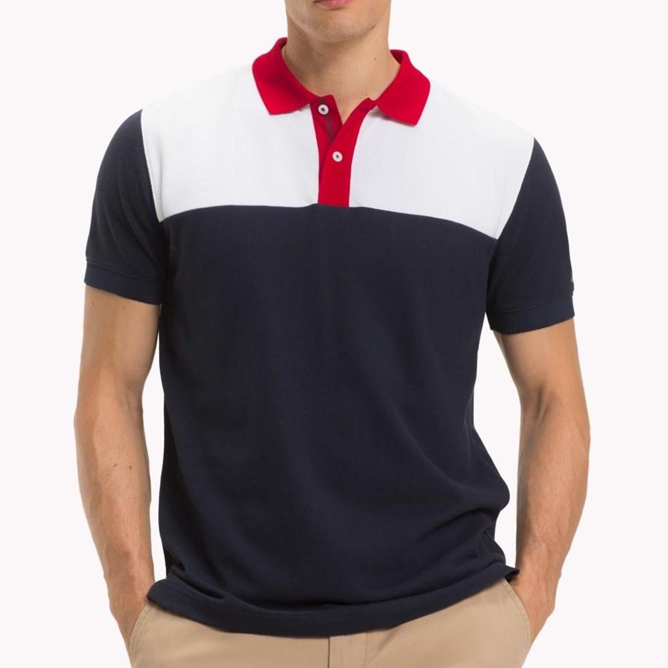 Tommy Hilfiger Wcc Colorblock Regular Polo - sky captain