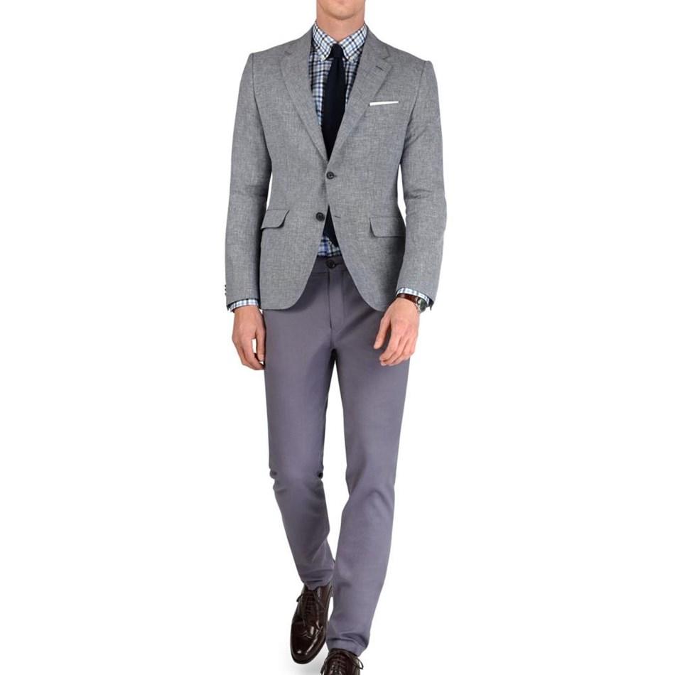T.M.Lewin Ashdown Grey Semi Plain Jacket - black grey