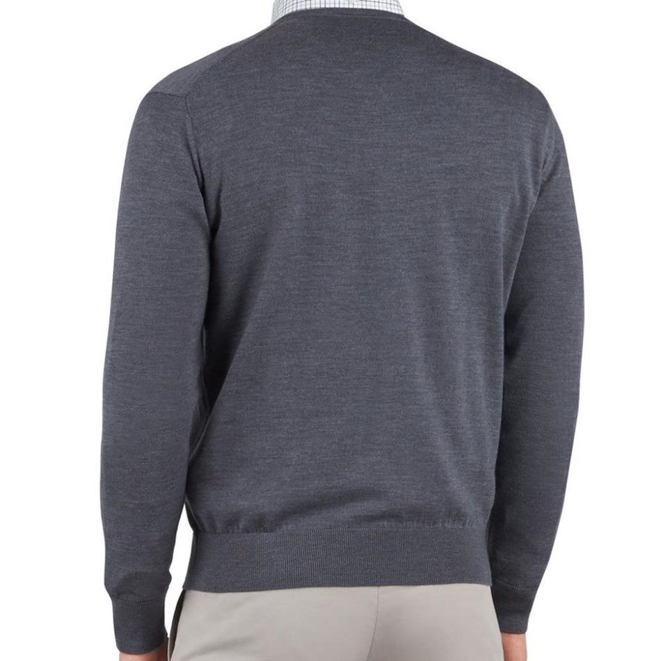 T.M.Lewin Vincent V-Neck Grey Jersey -