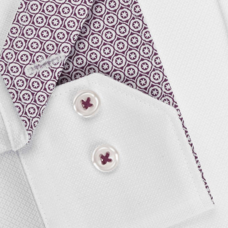 T.M.Lewin Fitted Sc Pln Text Cross White Shirt - white