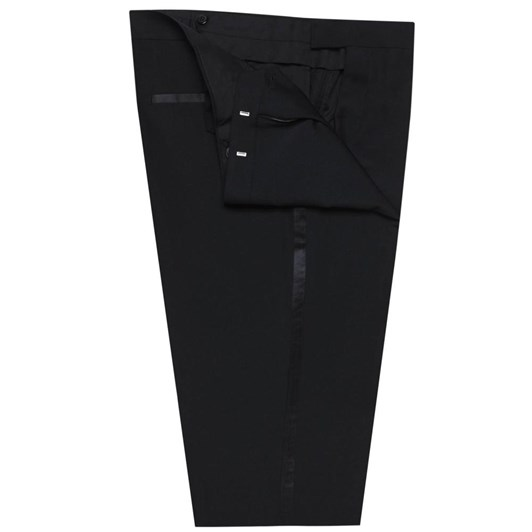 T.M.Lewin Flt Frnt Lancewood Plain Weave Trouser