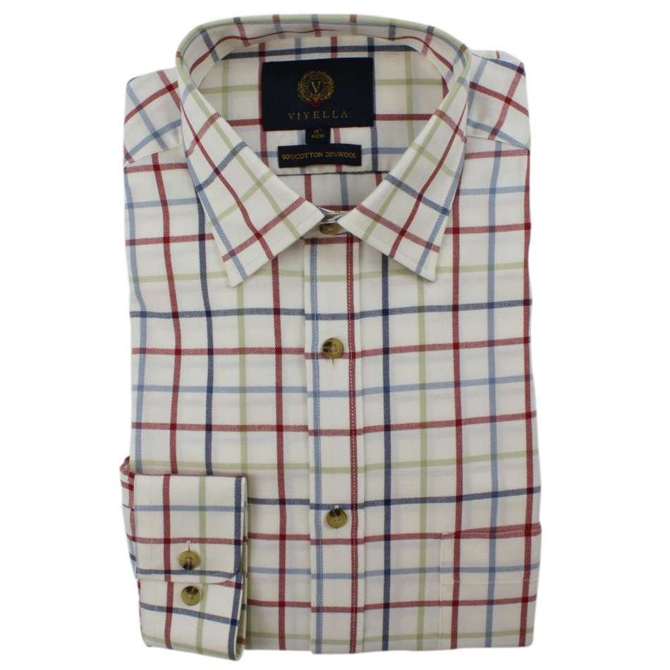 Viyella Large Tattersall Check Shirt -