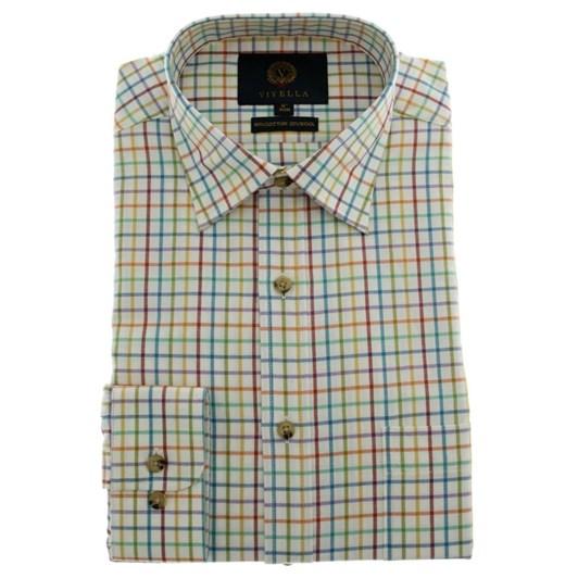 Viyella Multi Colour Tattersall Shirt