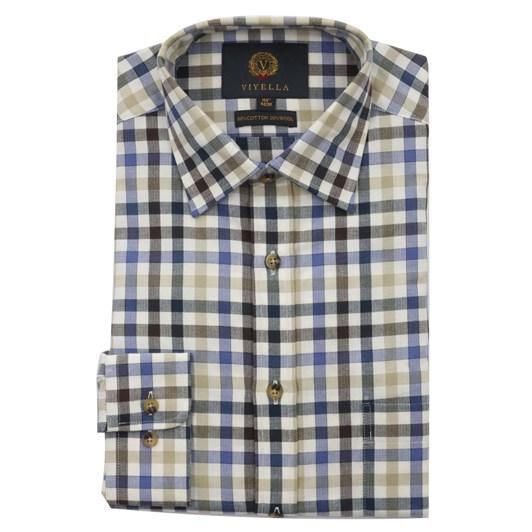 Viyella Herringbone Club Check Shirt