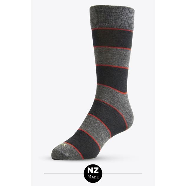 Nz Sock Co Merino Dress Thick Stripe -