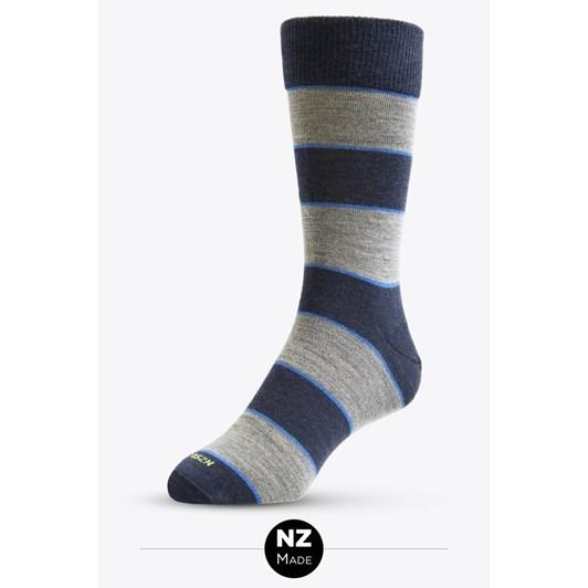 Nz Sock Co Merino Dress Thick Stripe