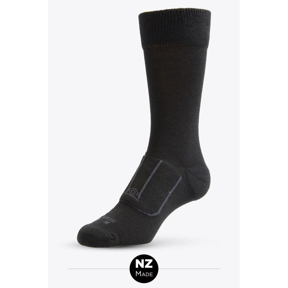 NZ Sock Co Brindle Sock - 947 black