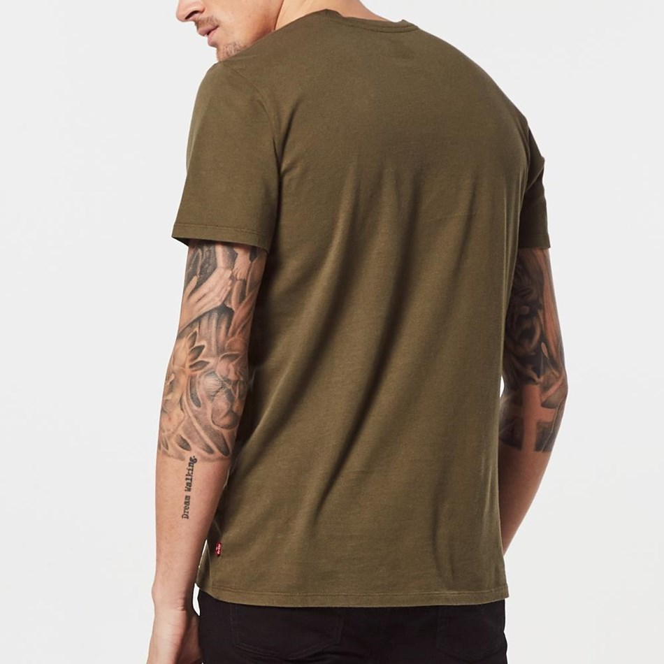 Levis Housemark Graphic Tee - olive night grap