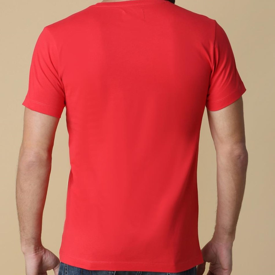 Calvin Klein Monogram Logo Slim T-Shirt - red
