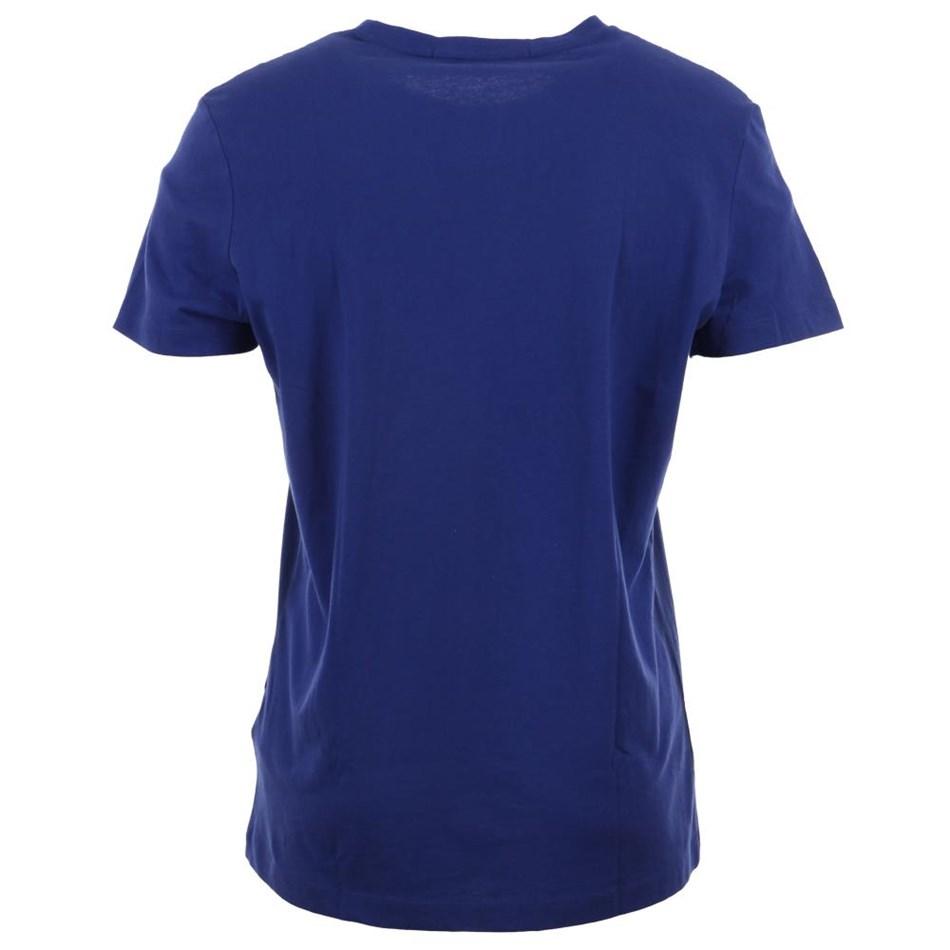 Calvin Klein Instnal Logo Slim Tee Blue Ckjm Pol -