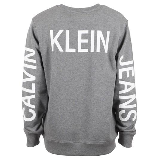 Calvin Klein Instnal Logo Cn Gry Htr Ckjm Swt